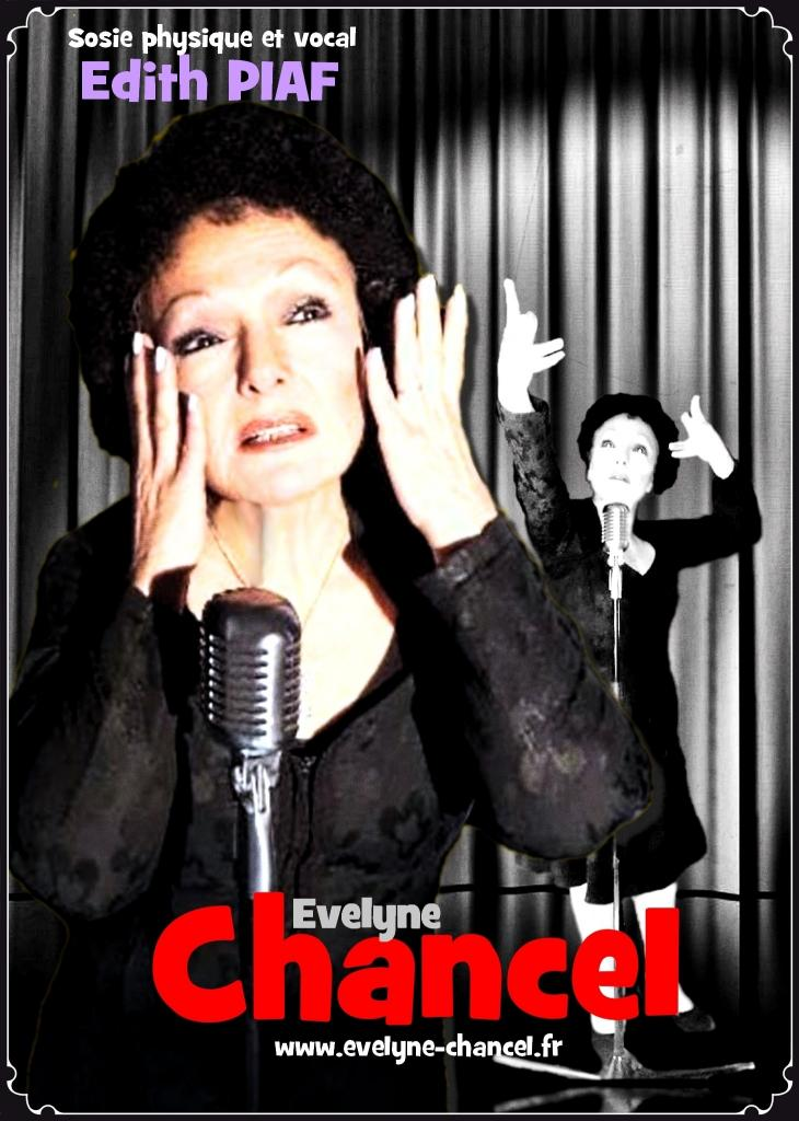 CARTE EVELYNE CHANCEL_Edith Piaf