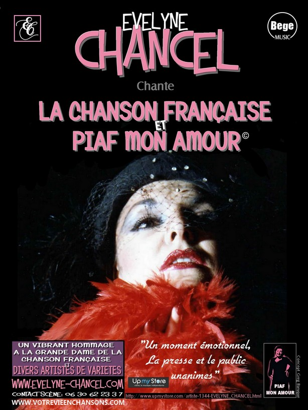 EVELYNE CHANCEL chante Edith PIAF - PARIS France et international